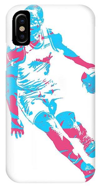 Tickets iPhone Case - Dwyane Wade Miami Heat Pixel Art 40 by Joe Hamilton