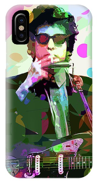 Bob Dylan iPhone Case - Dylan In Studio by David Lloyd Glover