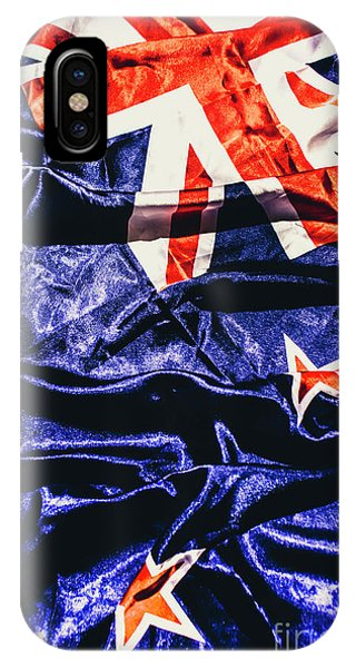 Patriotic iPhone Case - Dynamic Flag Of New Zealand by Jorgo Photography - Wall Art Gallery