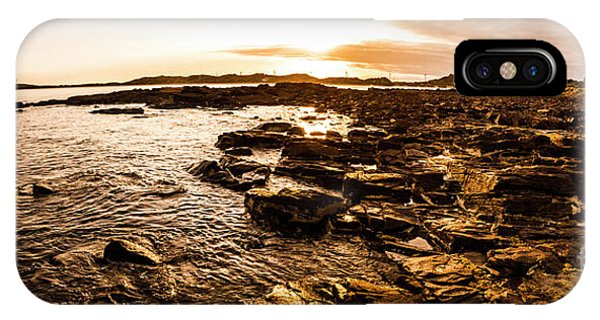 View Point iPhone Case - Dynamic Ocean Panoramic by Jorgo Photography - Wall Art Gallery