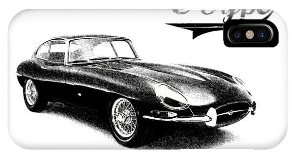 Coupe iPhone Case - E-type by Mark Rogan