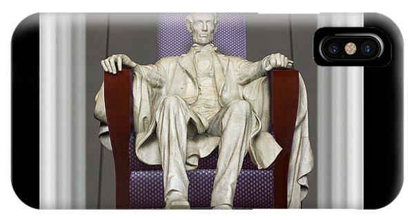 Lincoln Memorial iPhone Case - Ea-z-chair Lincoln Memorial by Mike McGlothlen