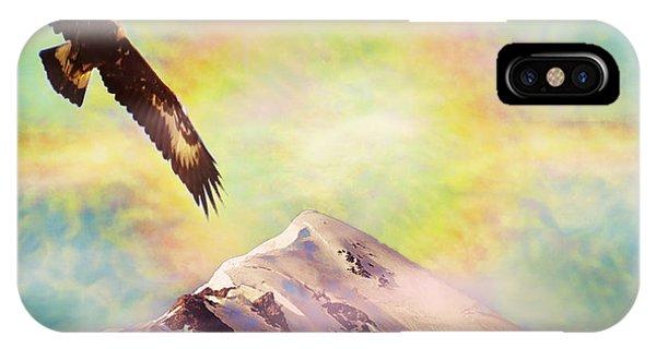 Eagle And Fire Rainbow Over Mt Tetnuldi Caucasus II IPhone Case