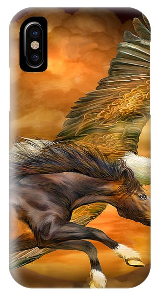 Moon iPhone Case - Eagle And Horse - Spirits Of The Wind by Carol Cavalaris
