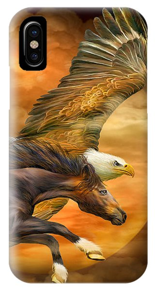 Eagle And Horse - Spirits Of The Wind IPhone Case