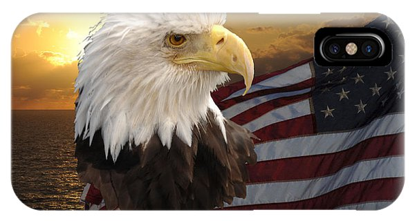 Eagle Flag I Phone Case by Keith Lovejoy