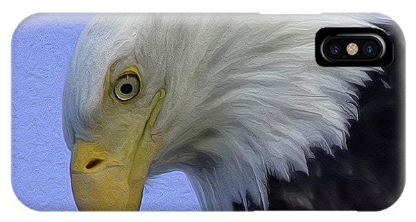 Eagle Head Paint IPhone Case