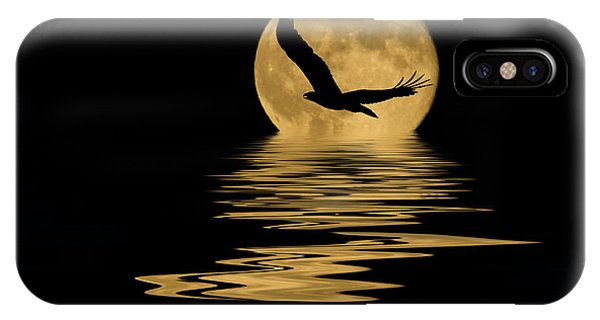 Eagle In The Moonlight IPhone Case