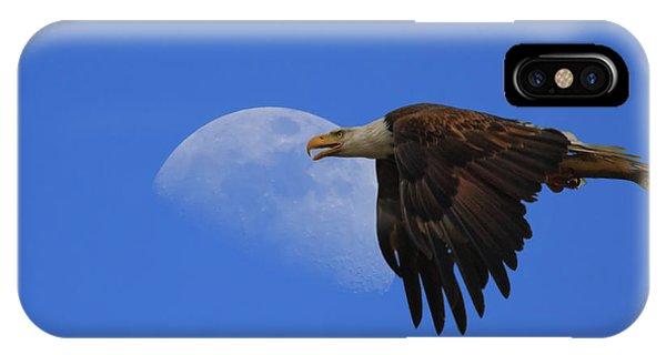 Eagle Moon IPhone Case