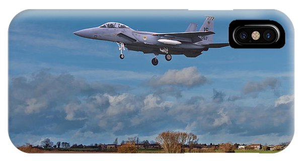 IPhone Case featuring the photograph Eagle On Finals by Paul Gulliver