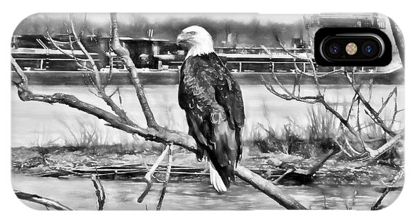 Eagle On The Illinois River IPhone Case