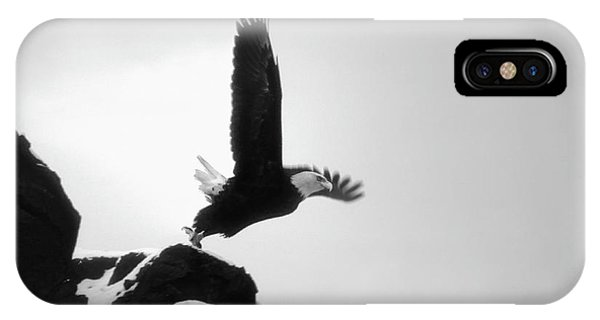 Eagle Takeoff At Adak, Alaska IPhone Case