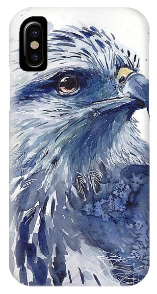 Wild Violet iPhone Case - Eagle Watercolor by Suzann Sines
