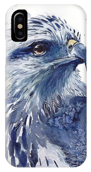 Proud iPhone Case - Eagle Watercolor by Suzann Sines