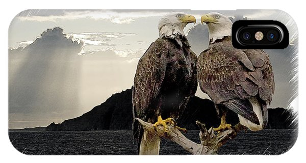 Eagles At Dawn  IPhone Case