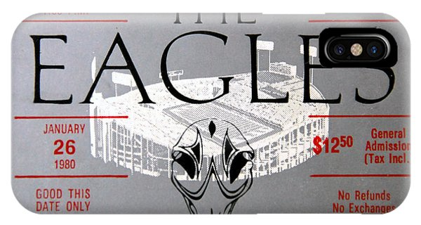 iPhone Case - Eagles Concert Ticket 1980 by David Lee Thompson