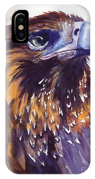 Blue Violet iPhone Case - Eagle's Head by Suzann Sines