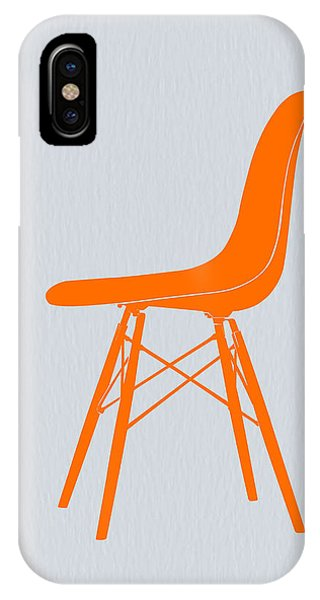 Artwork iPhone Case - Eames Fiberglass Chair Orange by Naxart Studio
