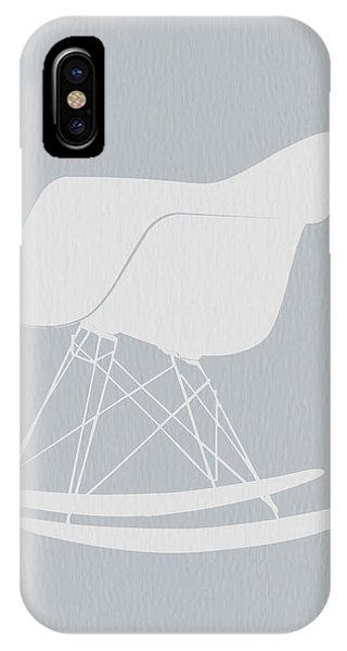 Chair iPhone Case - Eames Rocking Chair by Naxart Studio