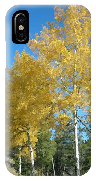 Early Autumn Aspens IPhone Case