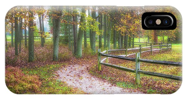 Hiking Path iPhone Case - Early Autumn Stroll by Tom Mc Nemar
