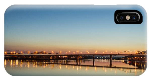 Early Evening Bridge At Sunset IPhone Case