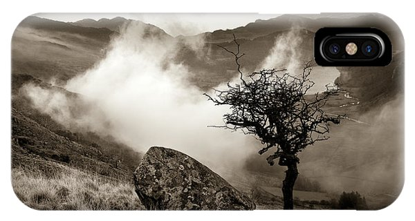 Early Mist, Nant Gwynant IPhone Case