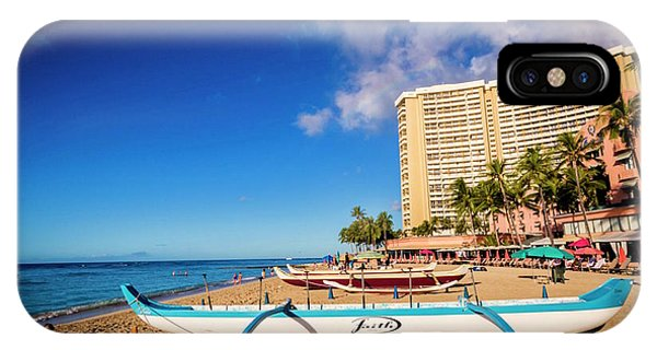 Early Morning At Outrigger Beach,hawaii IPhone Case