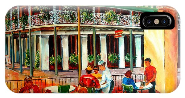 French Artist iPhone Case - Early Morning At The Cafe Du Monde by Diane Millsap