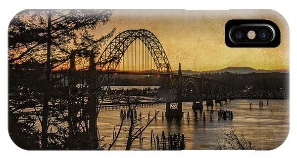 Early Morning At The Yaquina Bay Bridge  IPhone Case
