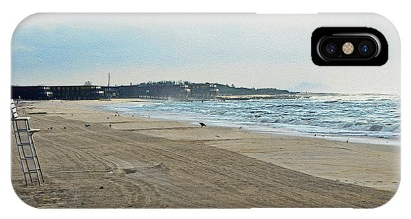 Early Morning Beach Silver Gull Club IPhone Case