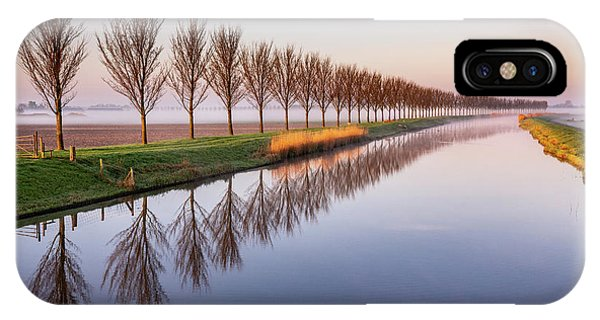 IPhone Case featuring the photograph Early Morning By The Canal by Susan Leonard