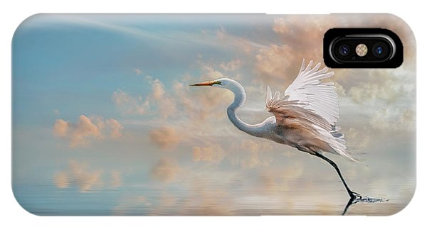 Early Morning Egret IPhone Case