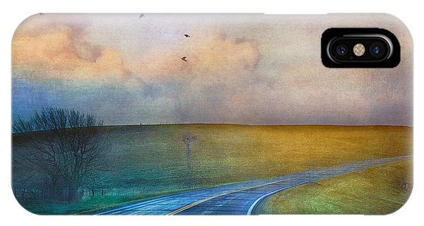 Early Morning Kansas Two-lane Highway IPhone Case