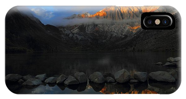Early Morning Light At Convict Lake In The Eastern Sierras IPhone Case