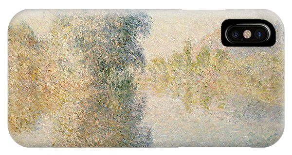French Impressionism iPhone Case - Early Morning On The Seine At Giverny by Claude Monet