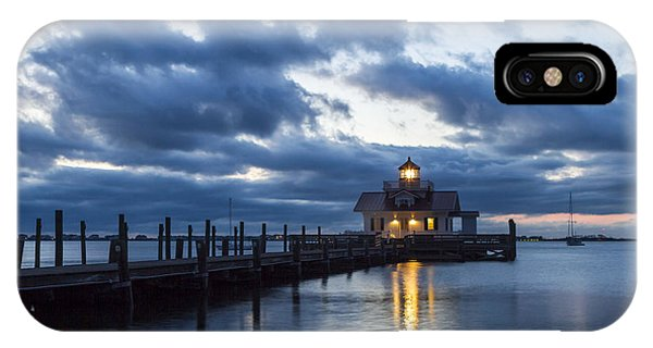 Early Morning Over Roanoke Marshes Lighthouse IPhone Case