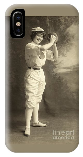 Early Portrait Of A Woman Baseball Player IPhone Case