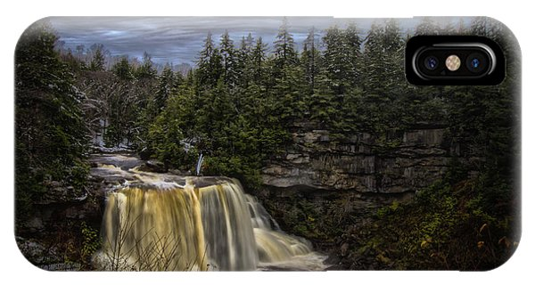 Early Snow At Black Water Falls IPhone Case