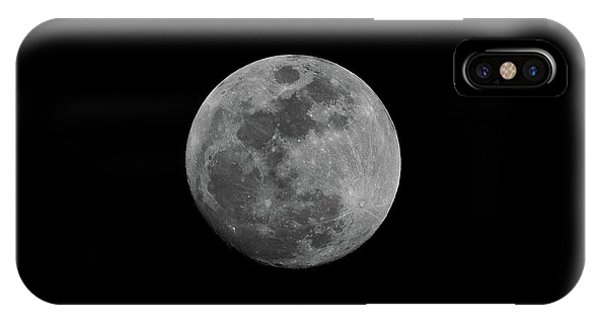 IPhone Case featuring the photograph Early Spring Moon 2017 by Jason Coward