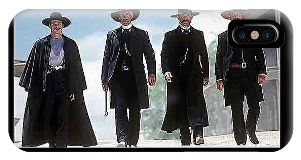 Earp Brothers And Doc Holliday Approaching O.k. Corral Tombstone Movie Mescal Az 1993-2015 IPhone Case