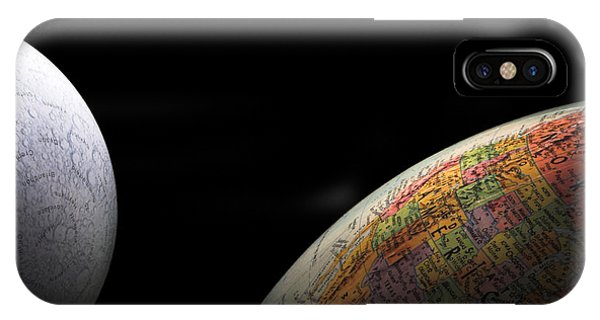 Earth And Moon Phone Case by Rob Byron