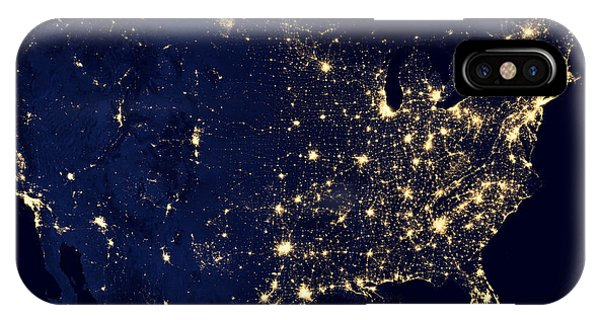 Earth Orbit iPhone Case - Earth At Night by Edward Fielding
