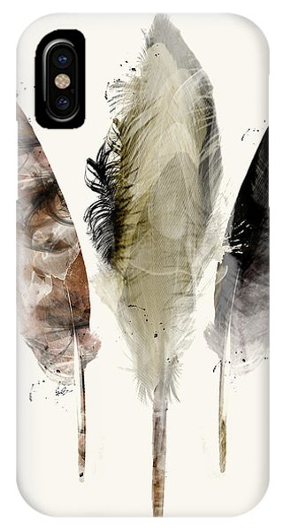 Bird Watercolor iPhone Case - Earth Feathers by Bri Buckley