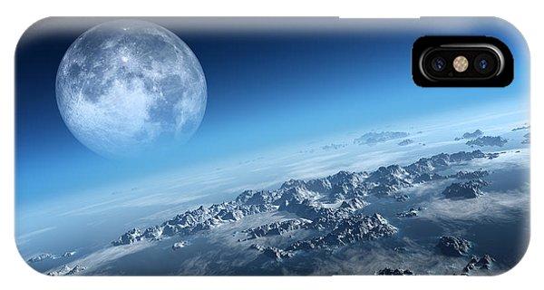 Moon iPhone Case - Earth Icy Ocean Aerial View by Johan Swanepoel