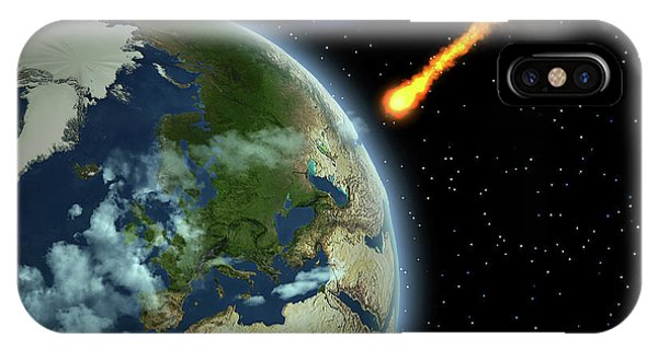 Damage iPhone Case - Earth Meteor by Corey Ford