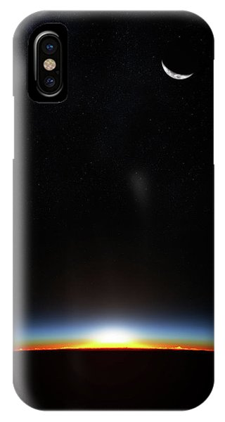 Layer iPhone Case - Earth Sunrise Through Atmoshere by Johan Swanepoel