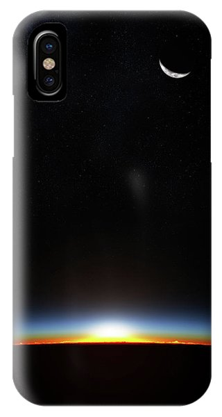 Planets iPhone Case - Earth Sunrise Through Atmoshere by Johan Swanepoel