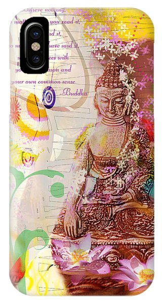 Earth Touching Buddha IPhone Case
