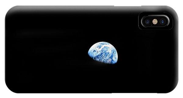 Nasa iPhone Case - Earthrise - The Original Apollo 8 Color Photograph by Nasa